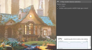 V-Ray GPU CUDA now renders on CPUs as well as GPUs, to take full advantage of all available hardware.