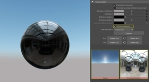 V-Ray lights can now illuminate objects in Viewport 2.0, making light setup much easier. Direct support for environmental reflections and V-Ray materials have also been added.