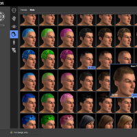 <strong>Skin, eye, and hair control</strong><br /> Customize looks using a library of styles.