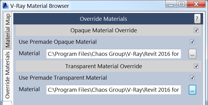Ovveride Materials