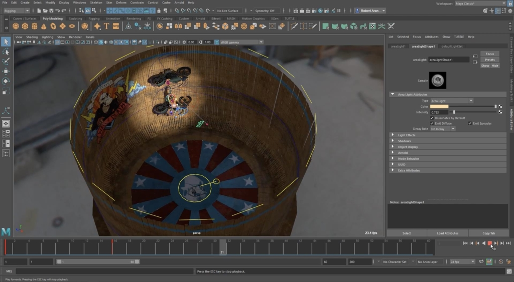 Maya 2019 Cached Playback - reviewing content in 3D environment